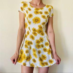 Forever 21 sunflower mini dress